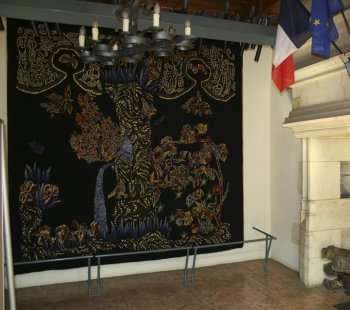 Гобелен в мэрии Рокамадура - Rocamadour (Рокамадур), Миди-Пиренеи, Франция - путеводитель по Рокамадуру: что посмотреть в Рокамадуре, достопримечательности. Как добраться в Рокамадур
