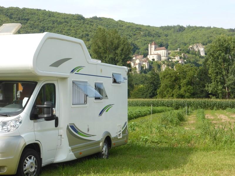 Aire Camping Car Saint Cirq Lapopie