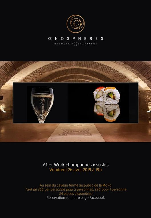 fter Work Champagnes x Sushis par OenoSpheres