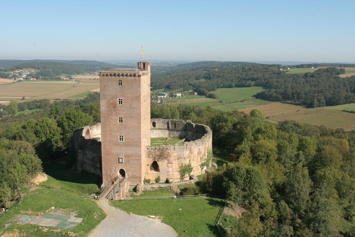 Montaner vue aérienne © Chateau de Montaner.JPG