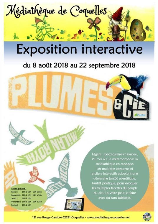 exposition interactive plumes et cie 8 aout au 22 septembre.jpg