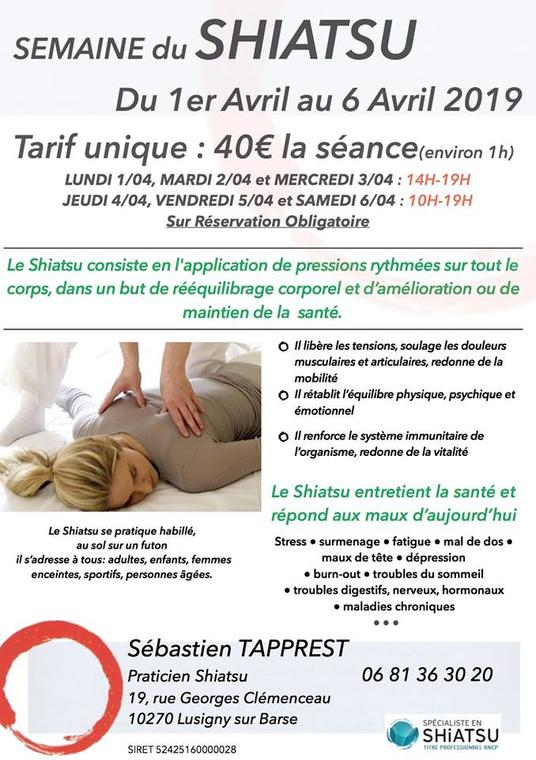 Semaine Du Shiatsu Nature And Relaxation Lusigny Sur Barse