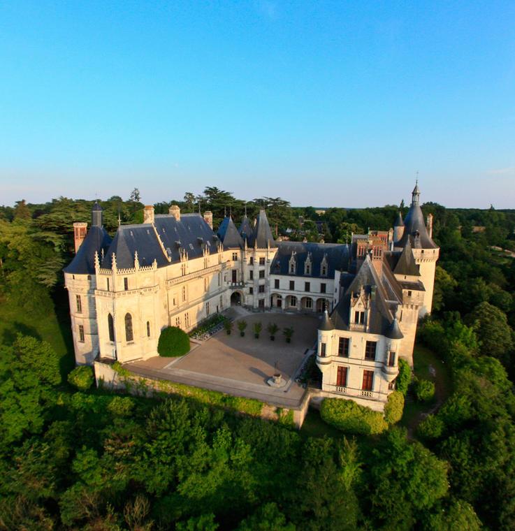 Vue aérienne du Domaine Régional de Chaumont-sur-Loire en Val de Loire