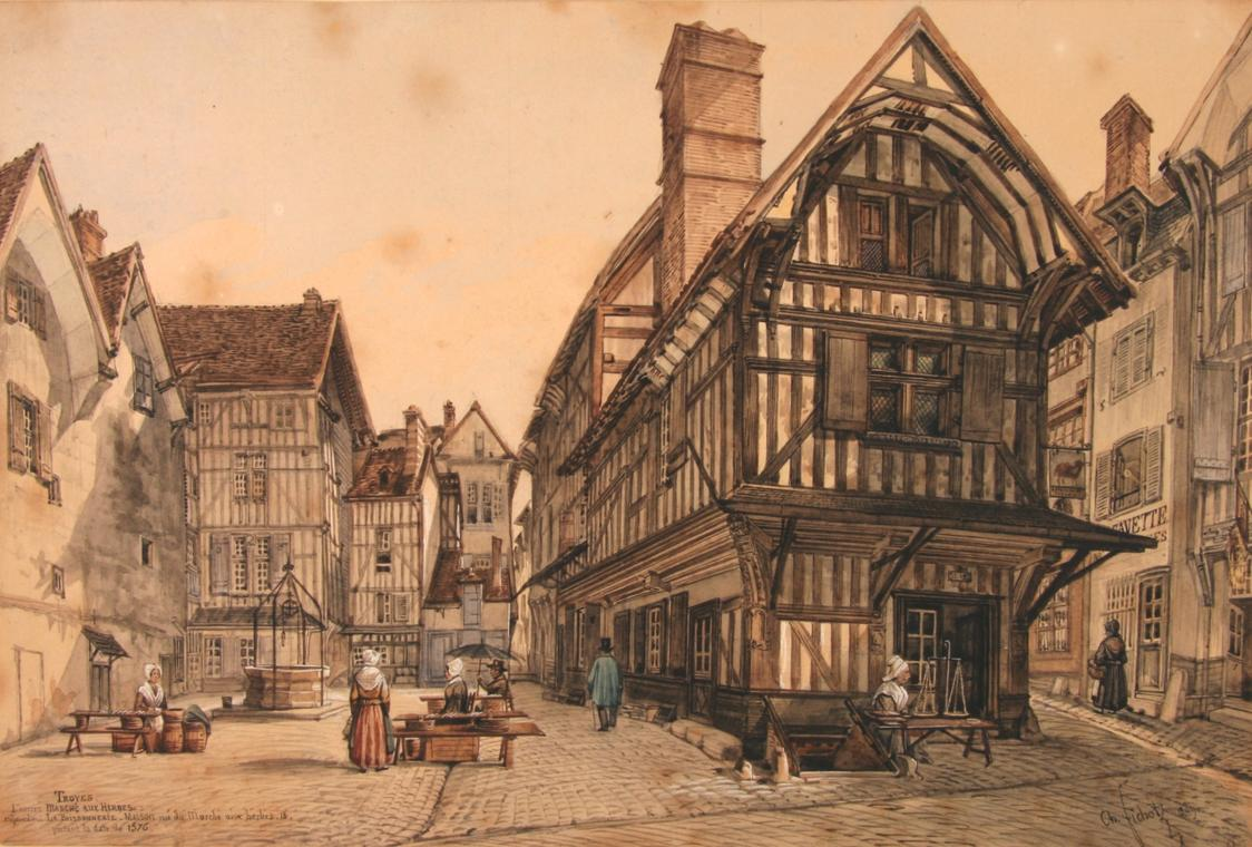Charles Fichot - Troyes, l'ancien marché aux herbe.jpg