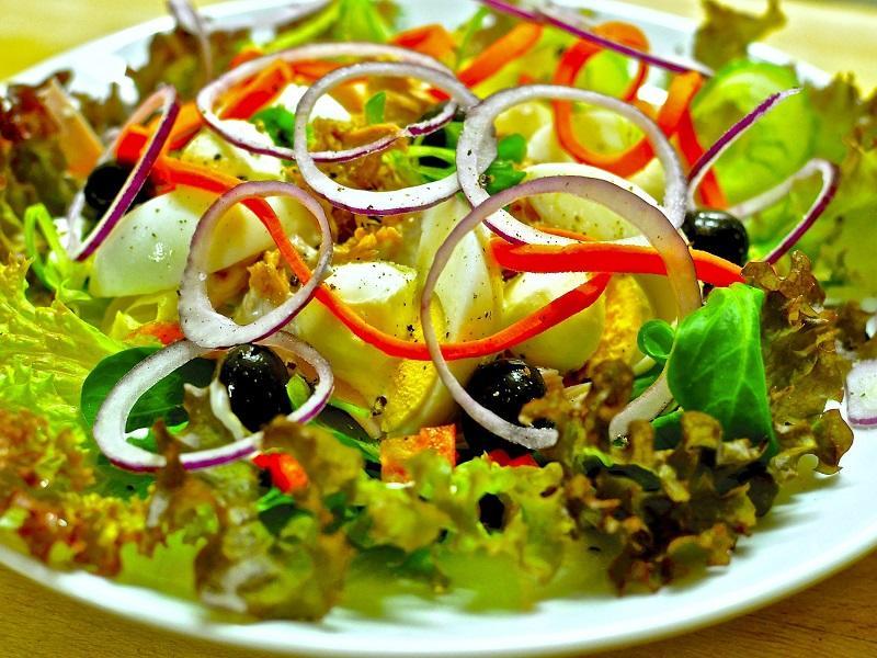 Salade restaurant café de paris merville-franceville-plage