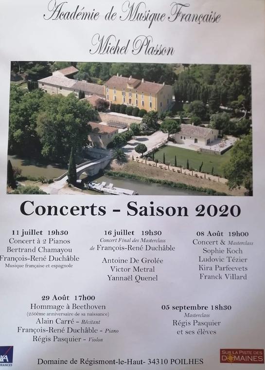Concerts - saison 2020 Poilhes