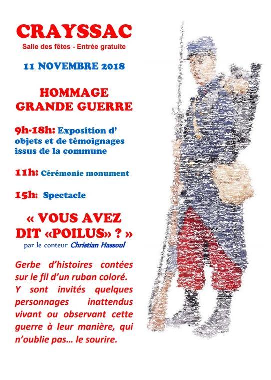 11 nov Journée Hommage Crayssac