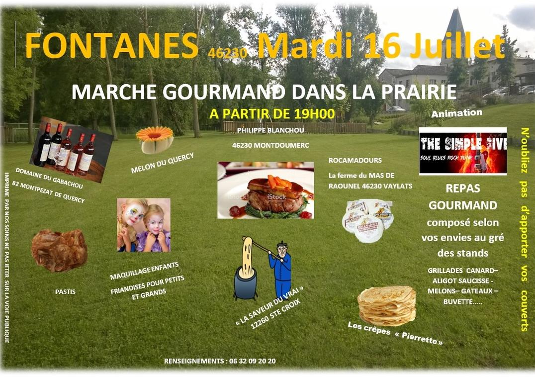 19.07.16 Marché Gourmand Fontanes 1