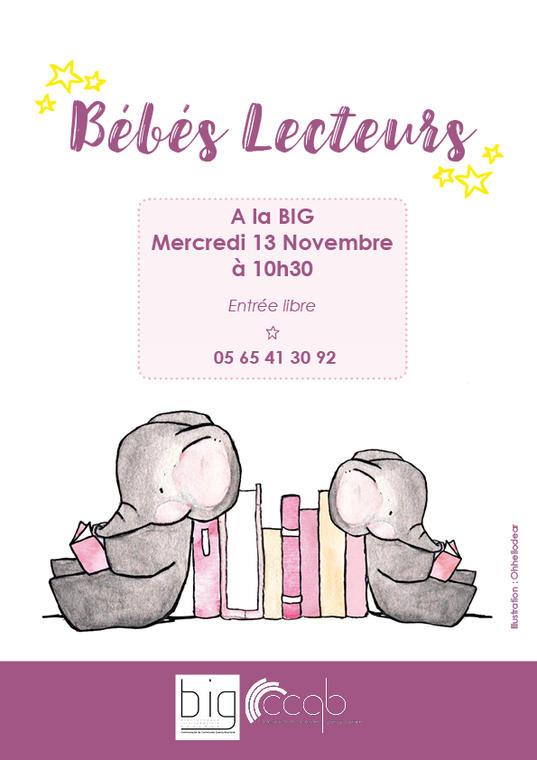 BIG -  Affiche Bébés lecteurs 11 2019