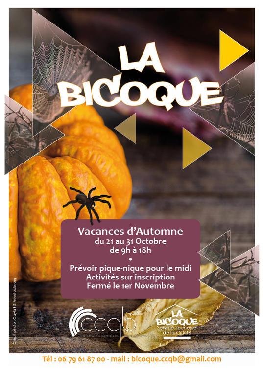 Bicoque - Affiche automne 2019