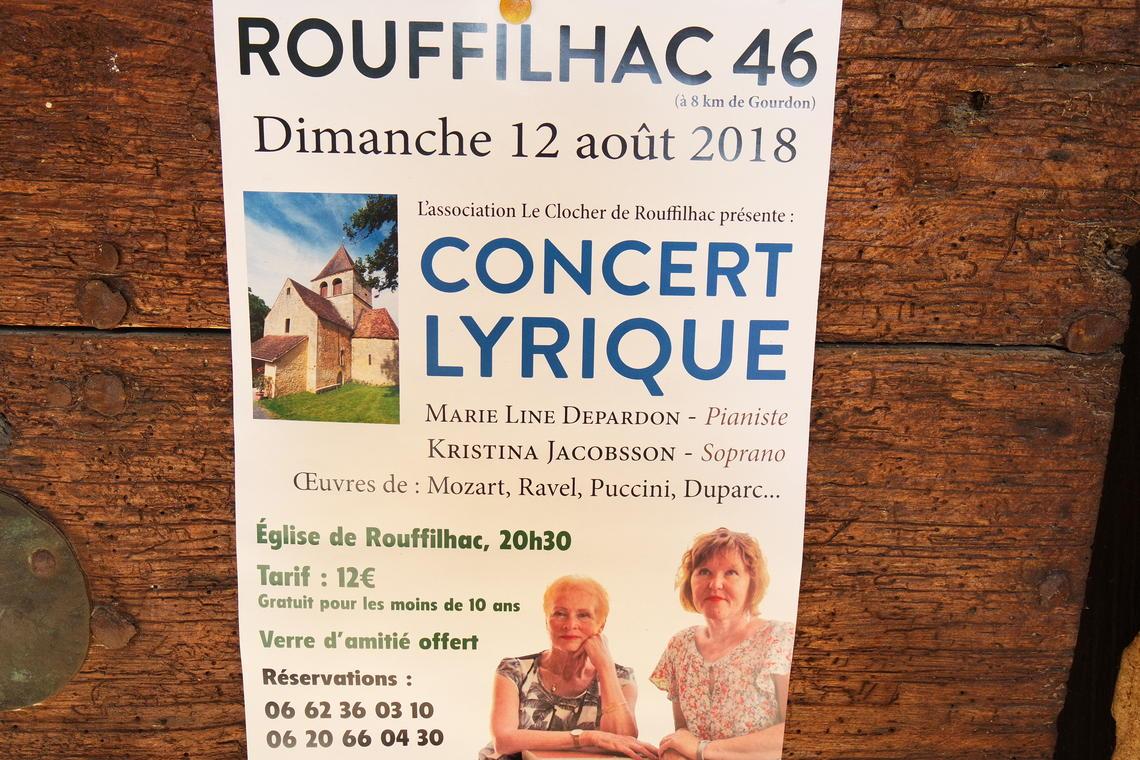 Concert Lyrique Rouffilhac 2018