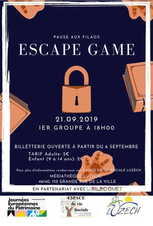 Escape Game Musée et Médiathèque de Luzech©Pause aux Filaos