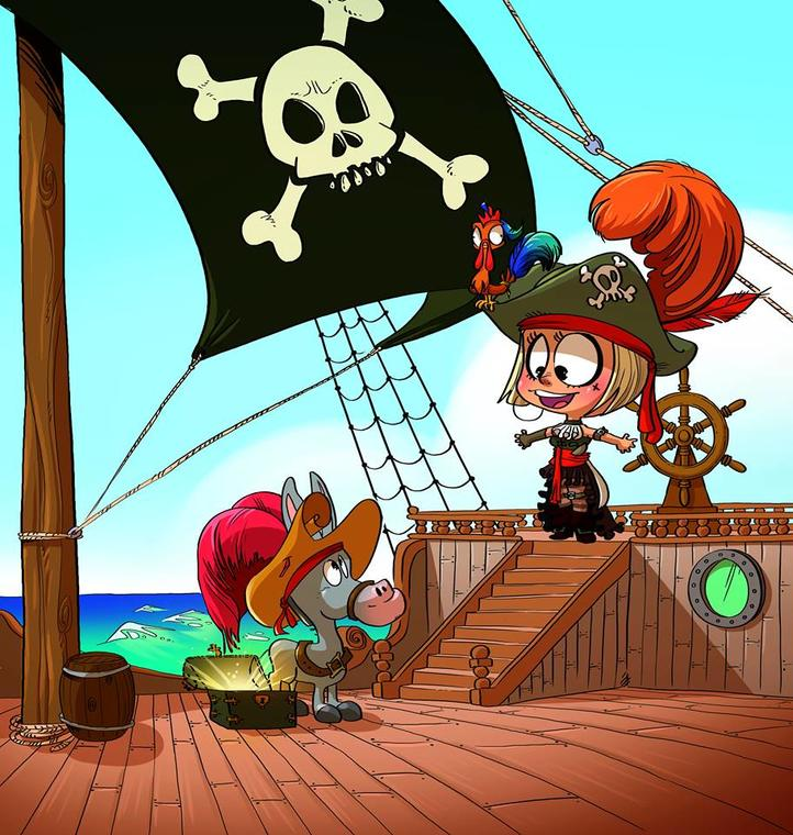 Jeanne Sparrow sur son bateau