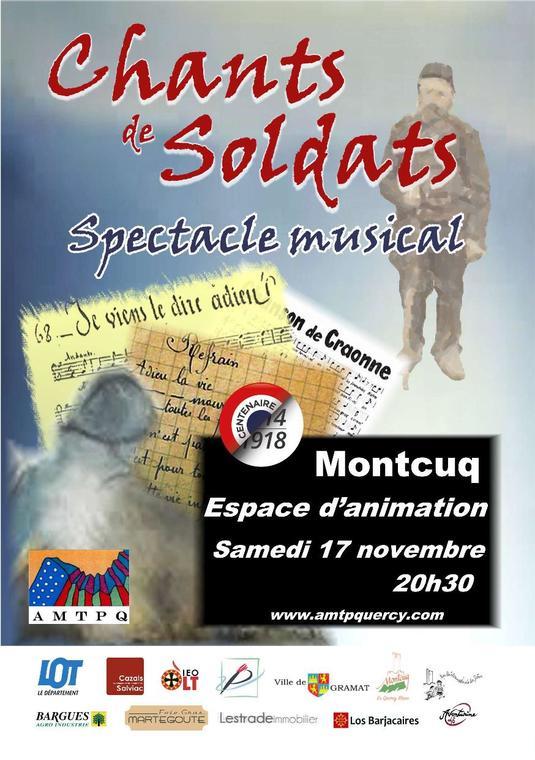 Tract A5 Chants soldats 2018 11 17 Montcuq Recto