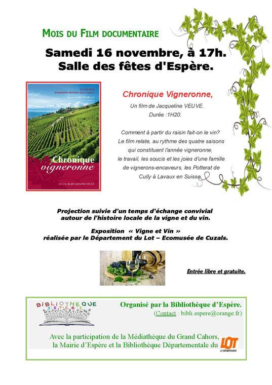 Chroniques vigneronnes
