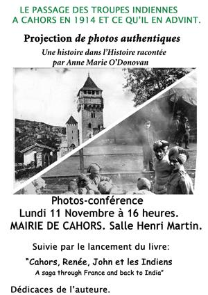 Conférence troupes indiennes