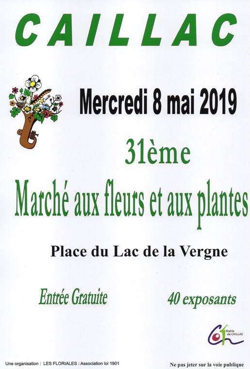 marché aux fleurs caillac 2019