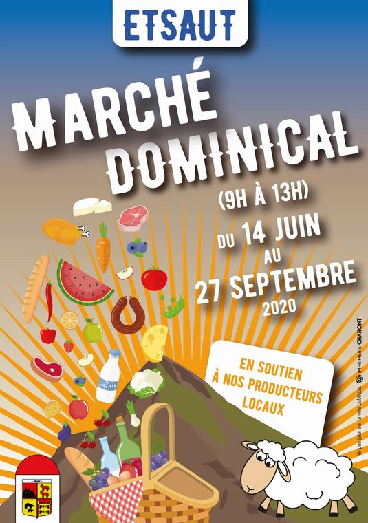 Marché dominical d'Etsaut