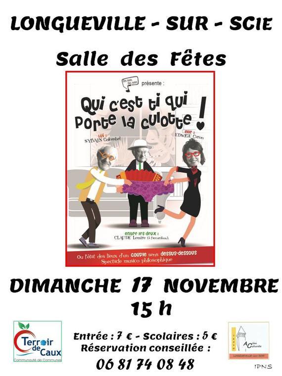 Affiche théâtre Longueville-sur-Scie