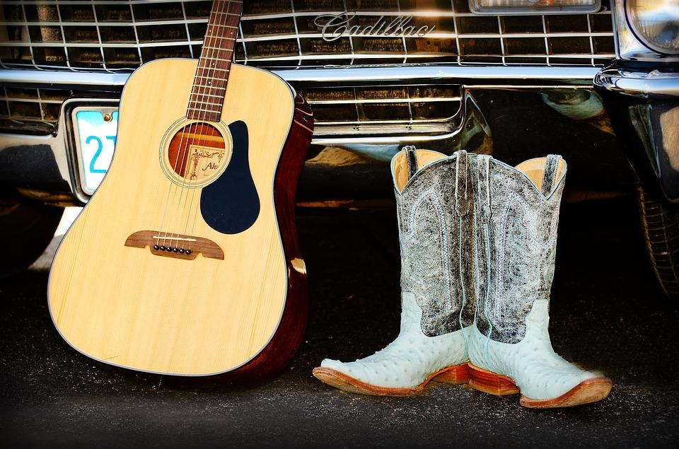 Santiags-guitare-country