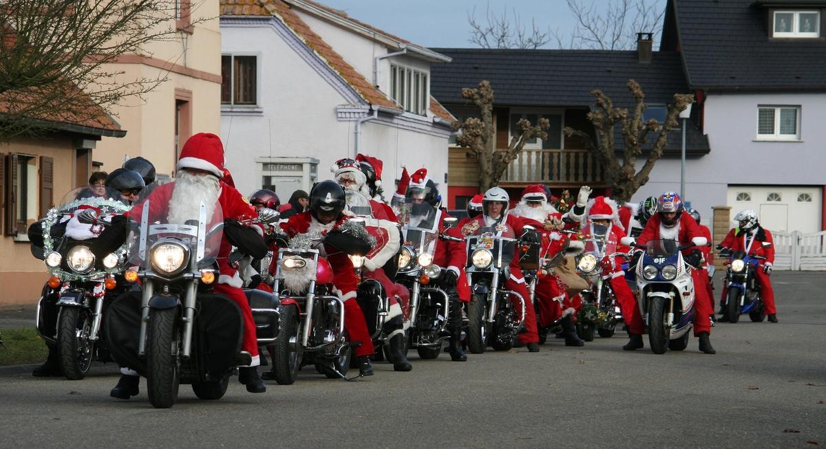 Père Noël a Moto