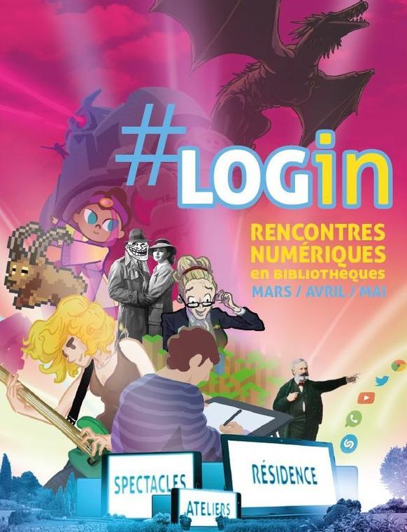 Affiche Login couoée