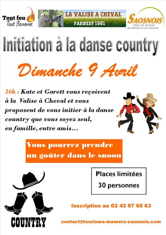 Affiche danse country