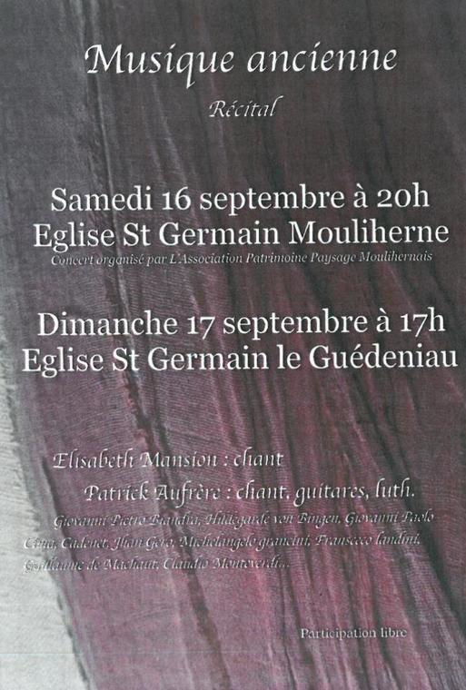 Affiche récital Le Guédeniau
