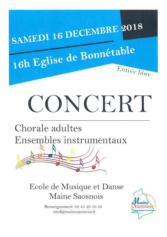Concert EMD Bonnétable