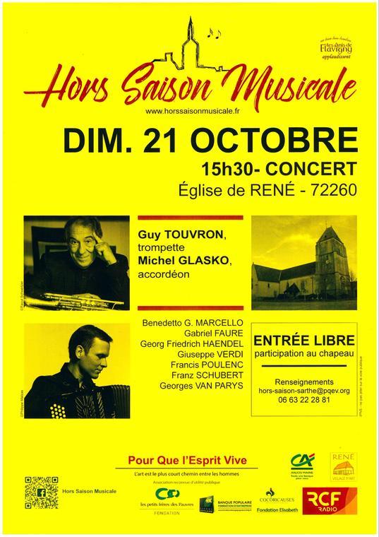 Concert Hors saison à René