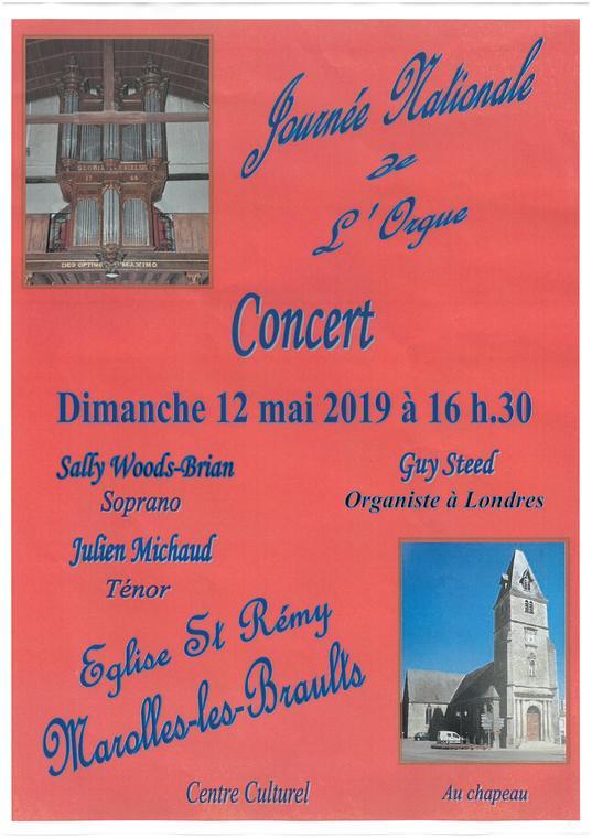 Concert Orgue Marolle 12 mai