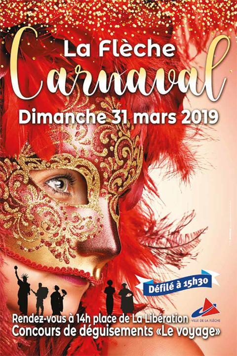L'affiche du carnaval 2019 à La Flèche