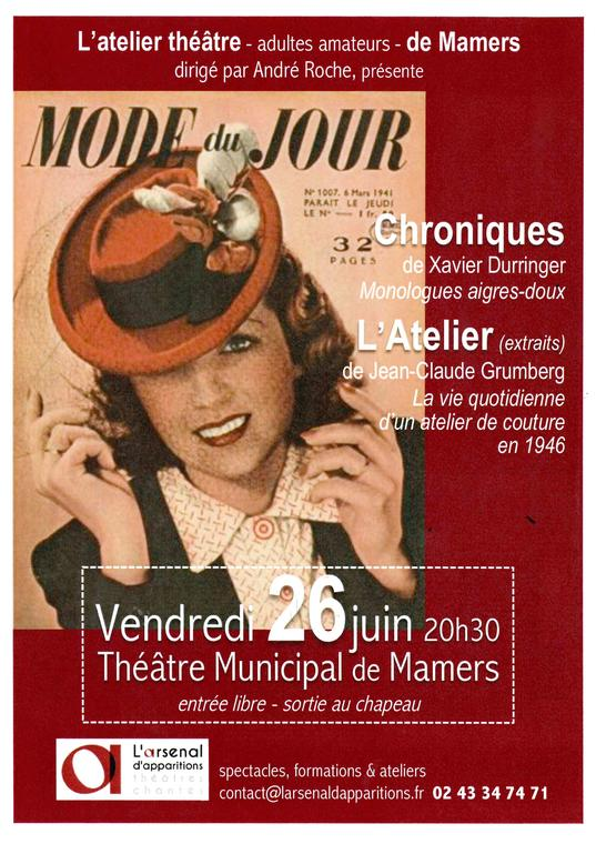 Théâtre Arsenal 26 juin