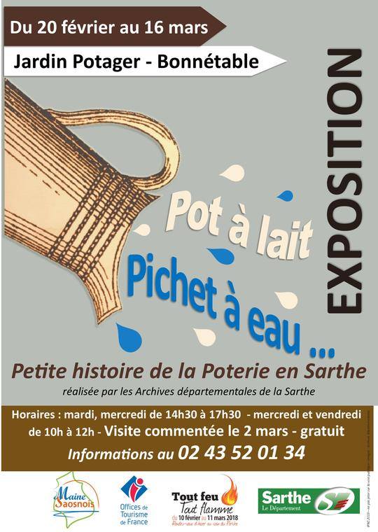 affiche expo poterie