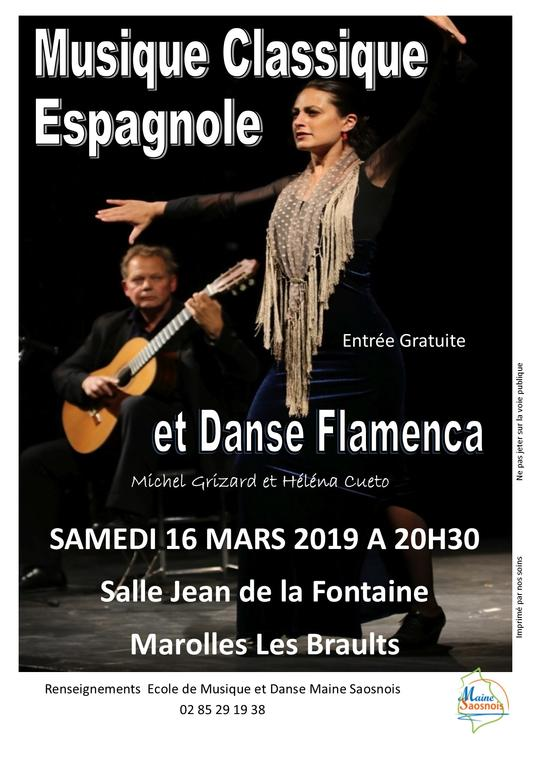 affiche spectacle flamenco