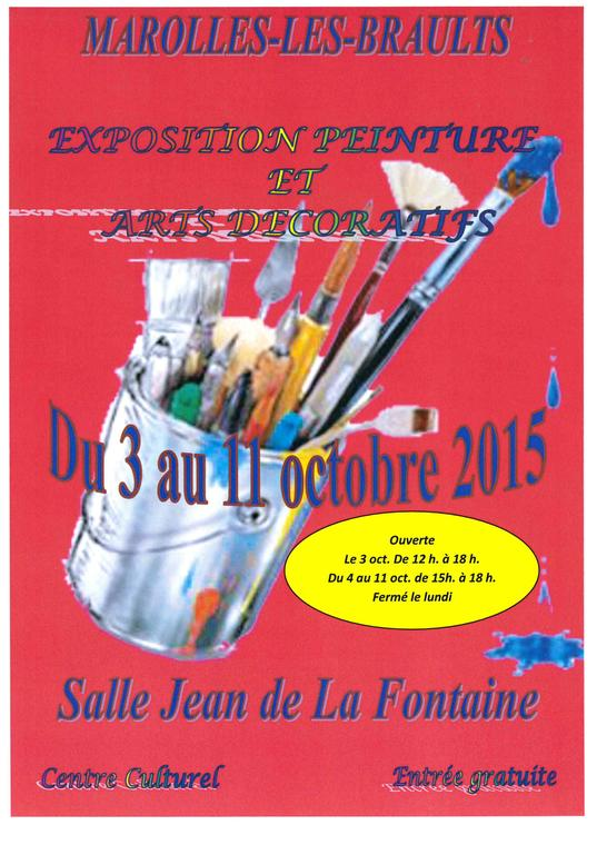 expo peinture et art décoratif Marolles les B