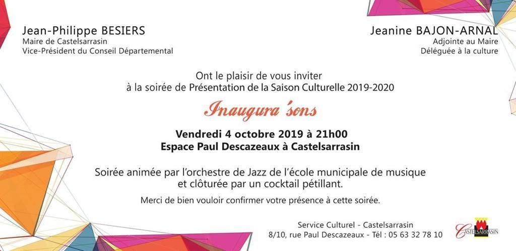 Présentation de la nouvelle saison culturelle Castelsarrasinoise
