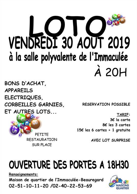 loto Vendredi 30 Aout 2019
