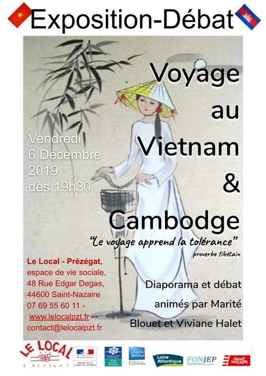 Exposition-débat: voyage au Vietnam&Cambodge