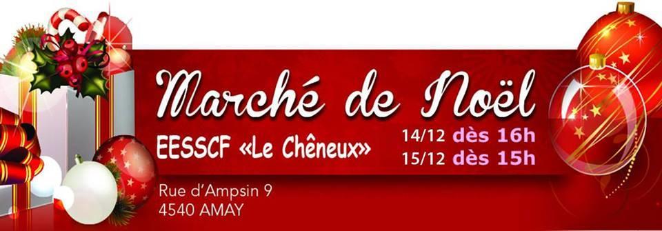 Marché de Noël au Chêneux - Amay - Affiche/Logo
