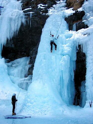 Cascade de glace Guide des 2 Vallées
