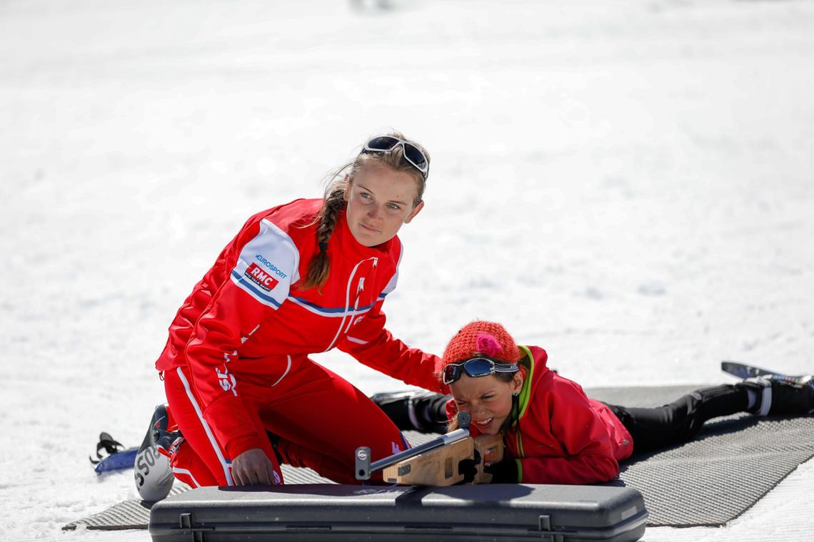 Biathlon avec l'ESF de Chaillol,
