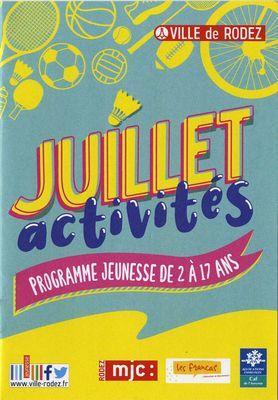 Activités Maisons de Quartier - Juillet 2020