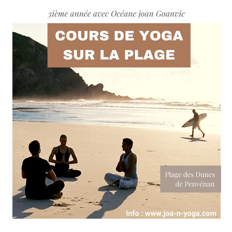 Plage Yoga Promo Instagram Publication