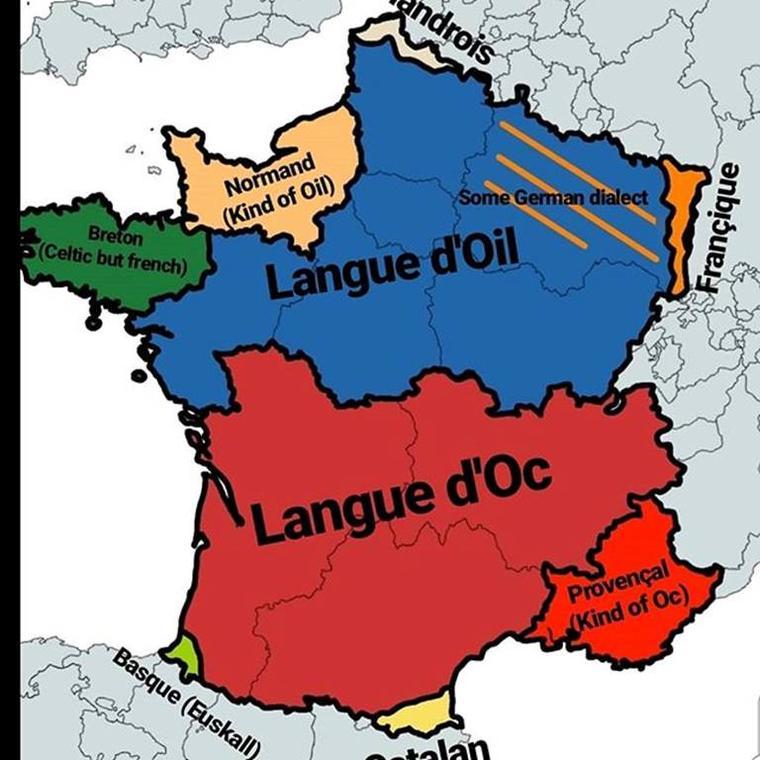 Geo langue Oc Oïl