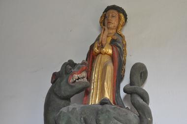 statue de Ste Marguerite - chapelle St Yves - Lignol - crédit photo CCPRM (3).JPG