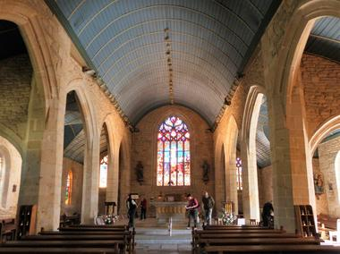 Eglise de Guiscriff - Guiscriff - Pays roi Morvan - Morbihan Bretagne sud - CP OTPRM (5).JPG