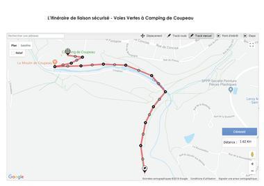 itinéraire cyclable de liaison  sécurisé -voies vertes - camping de coupeau .jpg