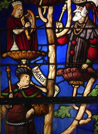 Arbre de Jessé, v. 1520, église de Laines-aux-bois © Cité du vitrail.JPG