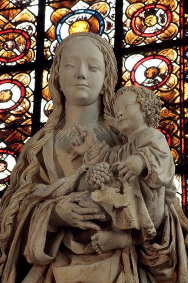 Vierge aux Raisins - Basilique Saint-Urbain © D. Le Névé - Troyes Champagne Tourisme